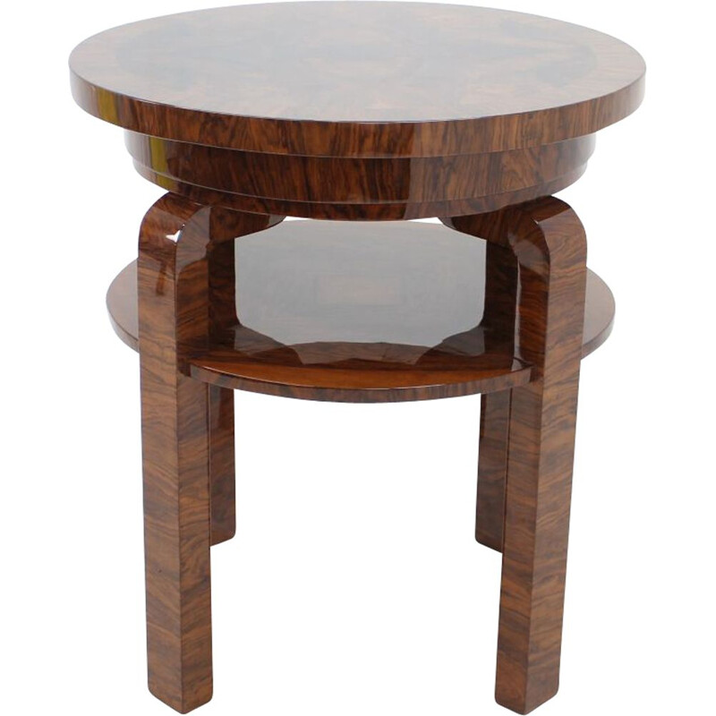 Vintage side table in wood 1930s