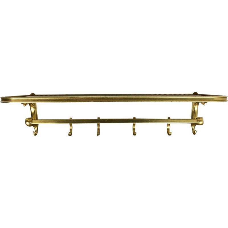 Vintage Brass Coat Rack Element 1950s