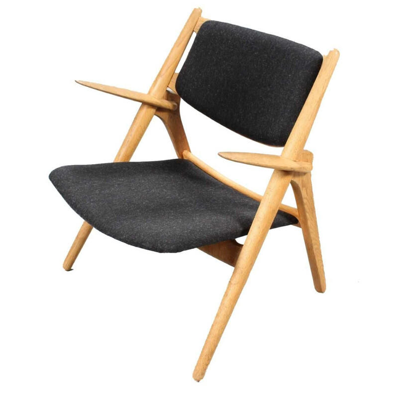 """CH28 P"" fabric armchair by Hans J. Wegner for CARL HANSEN & SON"