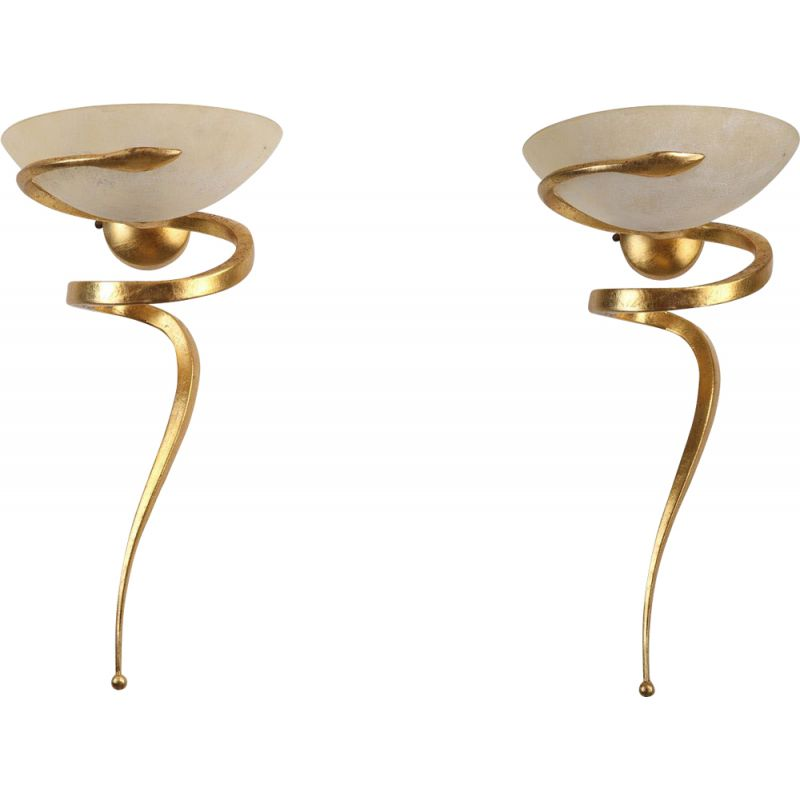 Pair of Teo wall lamps by Enzo Ciampalini