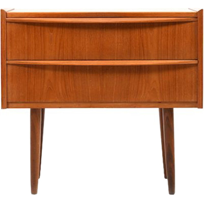 Danish small chest of drawers in teak