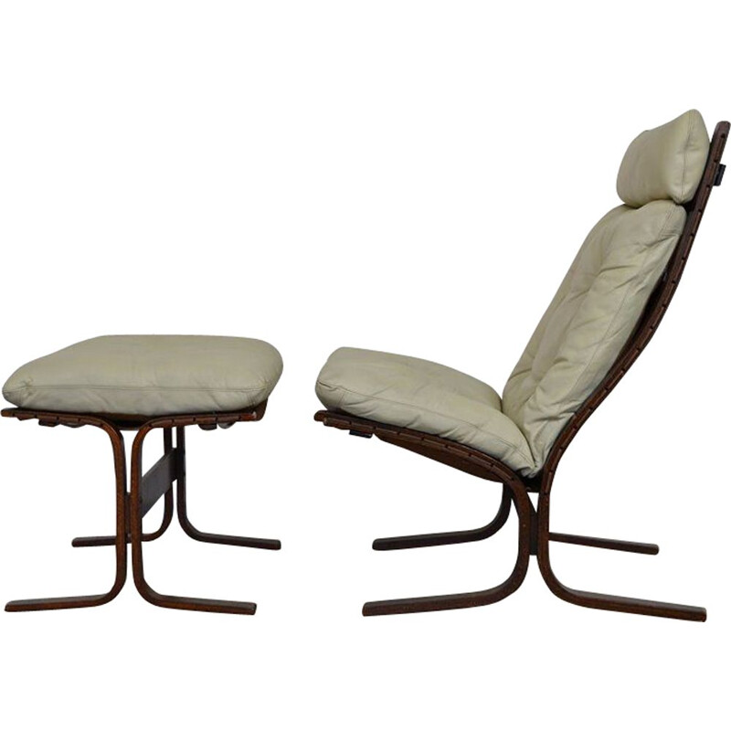 Siesta lounge chair & ottoman by Ingmar Relling for Westnofa