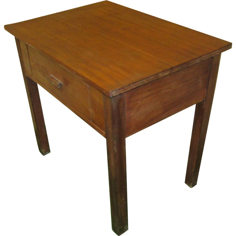 Vintage solid mahogany side table