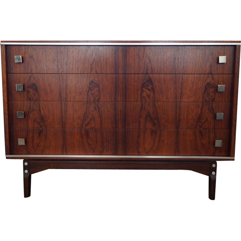 Vintage scandinavian chest of drawers in Rio rosewood 1970