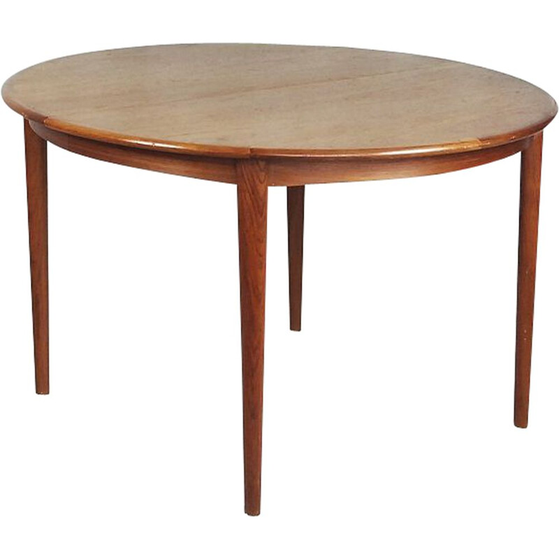 Vintage extendable scandinavian dining table in teakwood 1960