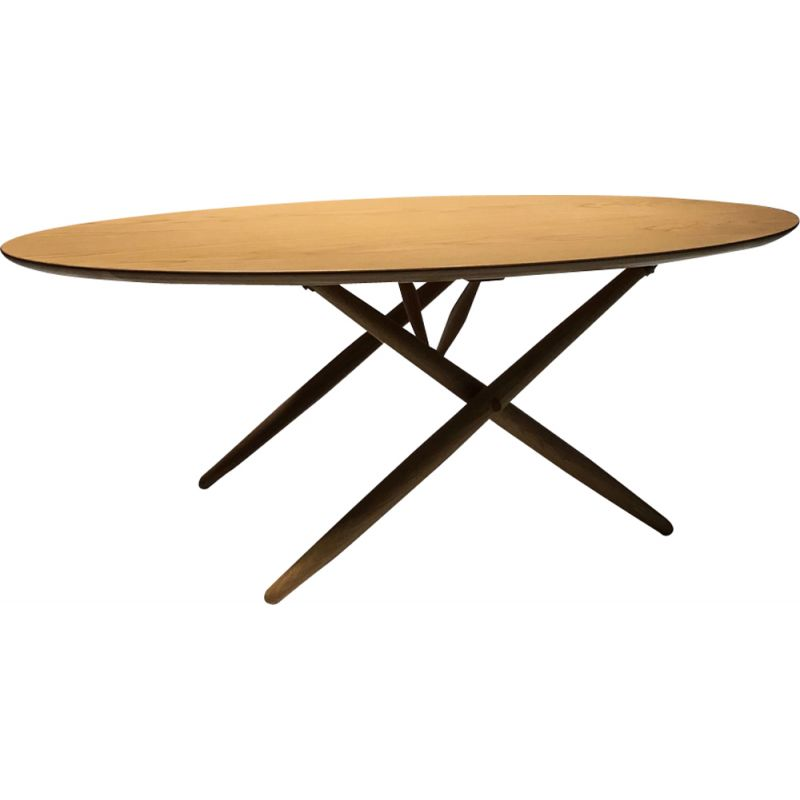 Vintage coffee table Ovalette by Ilmari Tapiovaara for Artek