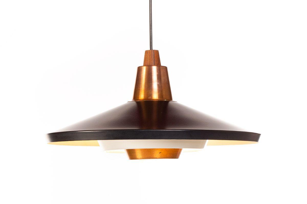 Image of: Vintage Black And Copper Pendant Lamp 1960s Design Market