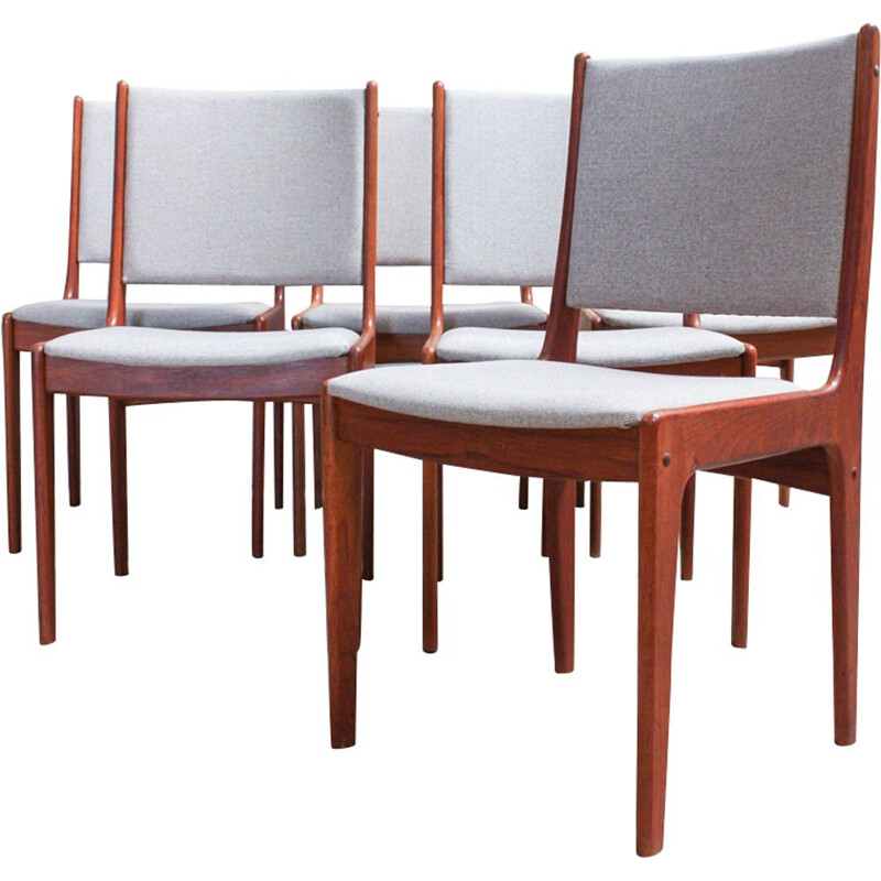 Set of 6 dining chairs by Johannes Andersen for Uldum Møbelfabrik 1960s