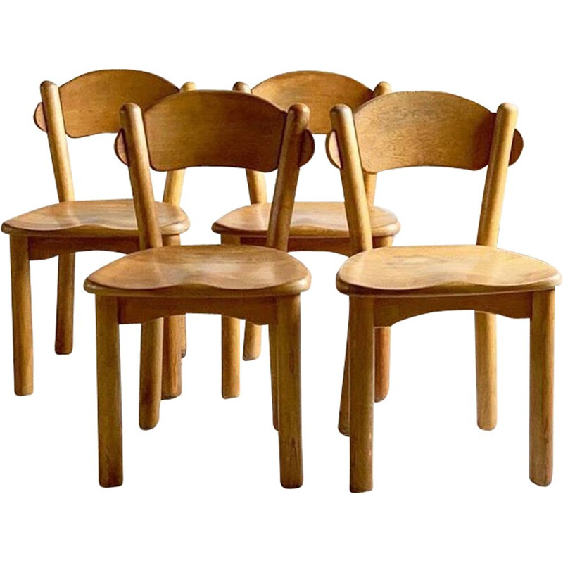 Set of 4 vintage chairs in pine Rainer Dauthousand for Hirtshals Savvaerk