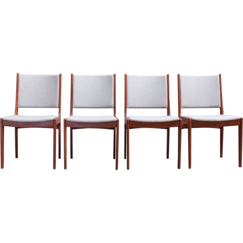 Set of 4 vintage dining chairs by Johannes Andersen for Uldum Møbelfabrik 1960s