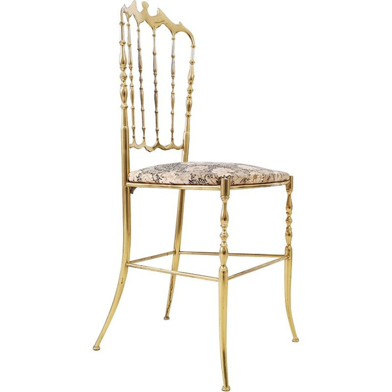 Chiavari brass vintage Chair by Giuseppe Gaetano Descalzi 1960