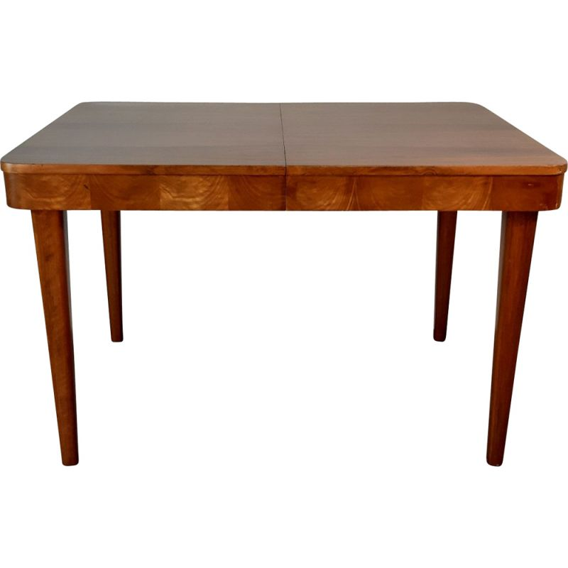 Vintage extendable table for UP zavody in walnut 1950