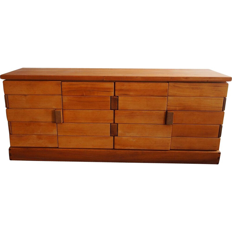 Vintage sideboard for Regain in solid elmwood 1980