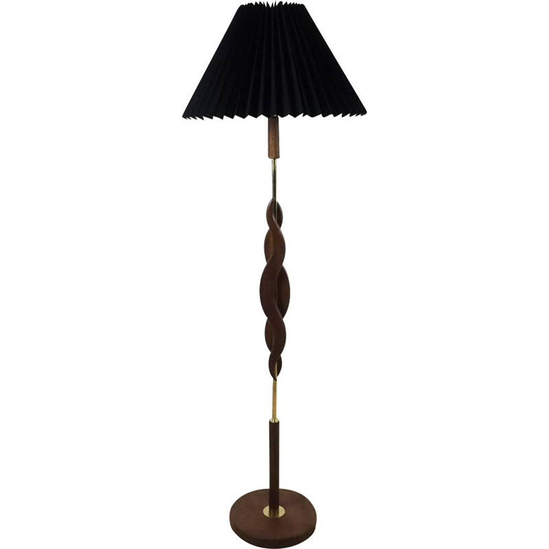 Vintage floor lamp from in teak the 60s