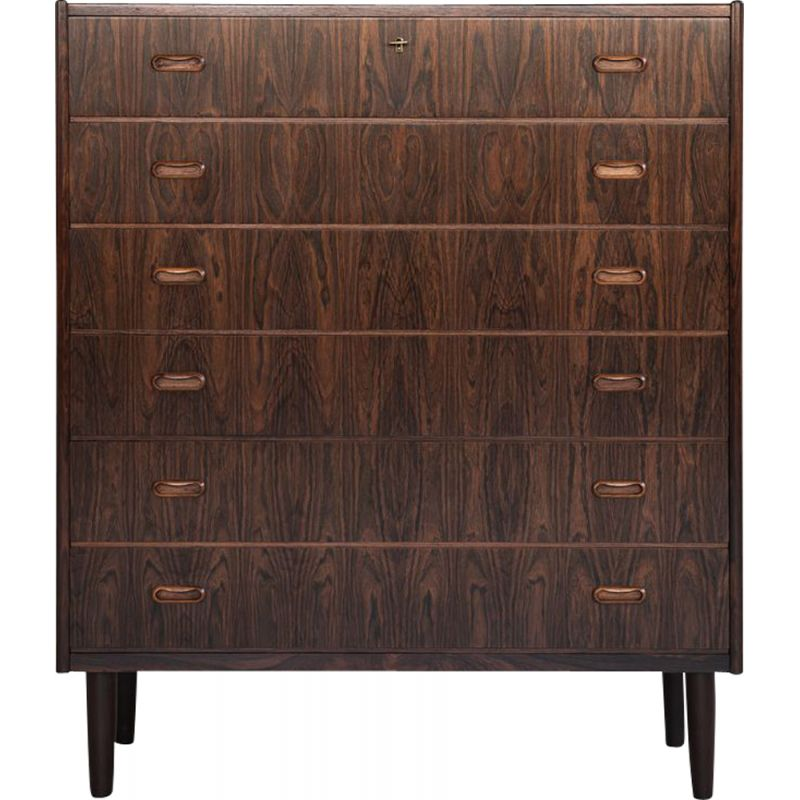 Vintage large chest of drawers in rosewood by VV Møbler,1960