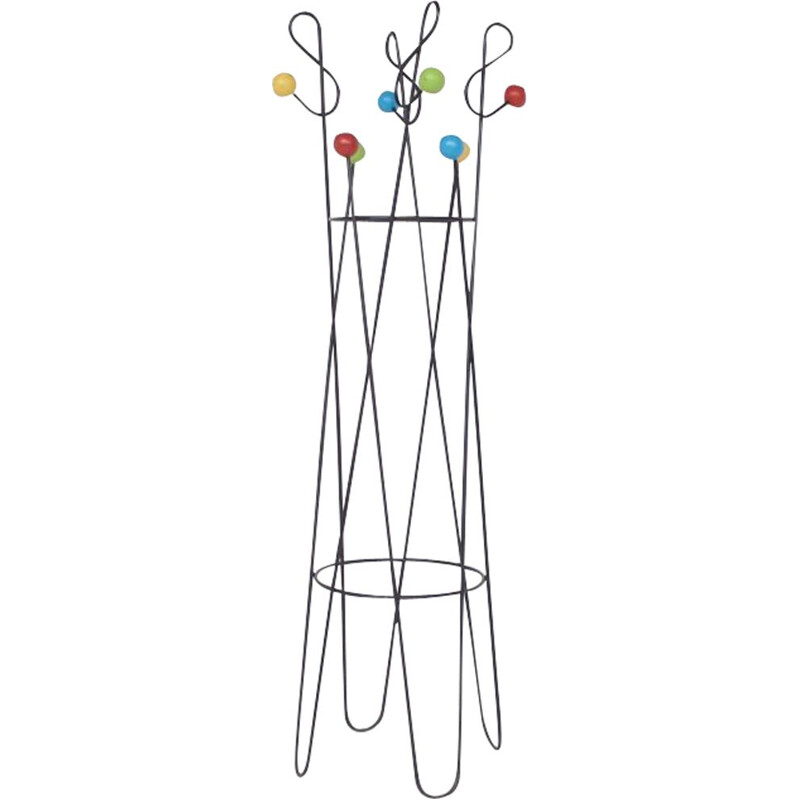 Vintage coat rack by Roger Feraud from the 50s