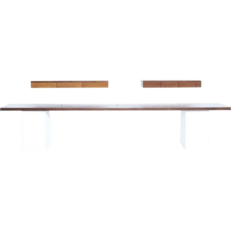 Set of vintage wall consoles by Angelo Mangiarotti