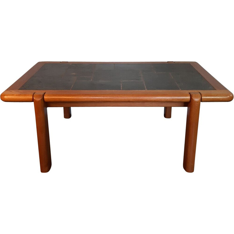 Vintage coffee table in solid teak and granite by Dyrlund