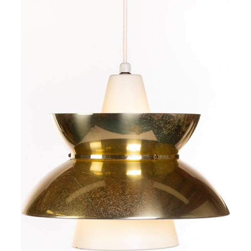 Vintage Brass Pendant Lamp by Jørn Utzon for Nordisk Solar 1960s