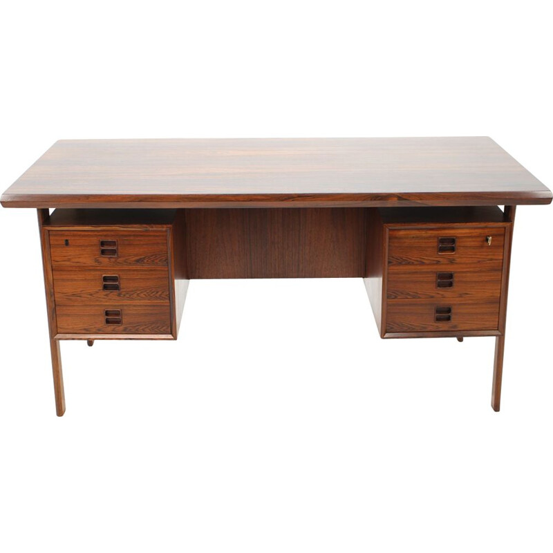 Vintage rosewood desk by Arne Vodder 1960s