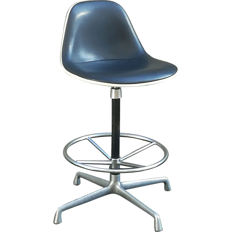 Vintage swivel Stool by Charles & Ray Eames for Herman Miller, 1960s