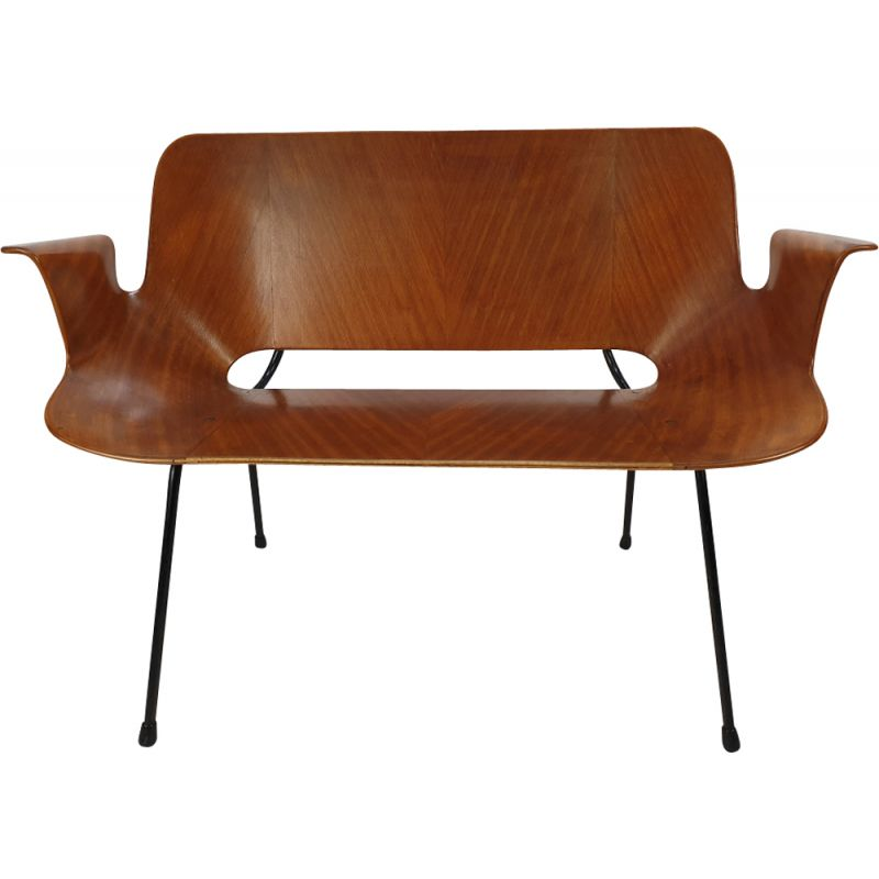 Vintage sofa Medea in bentwood by Vittorio Nobili for Fratelli Tagliablue, 1950s