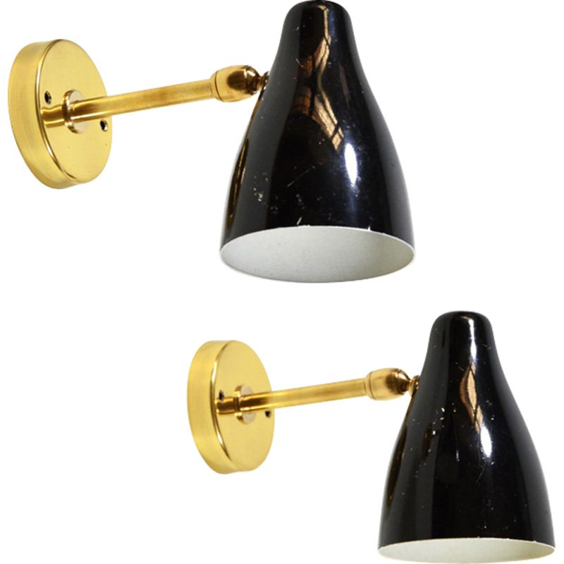 Set of 2 vintage wall lamps Italy 1950s