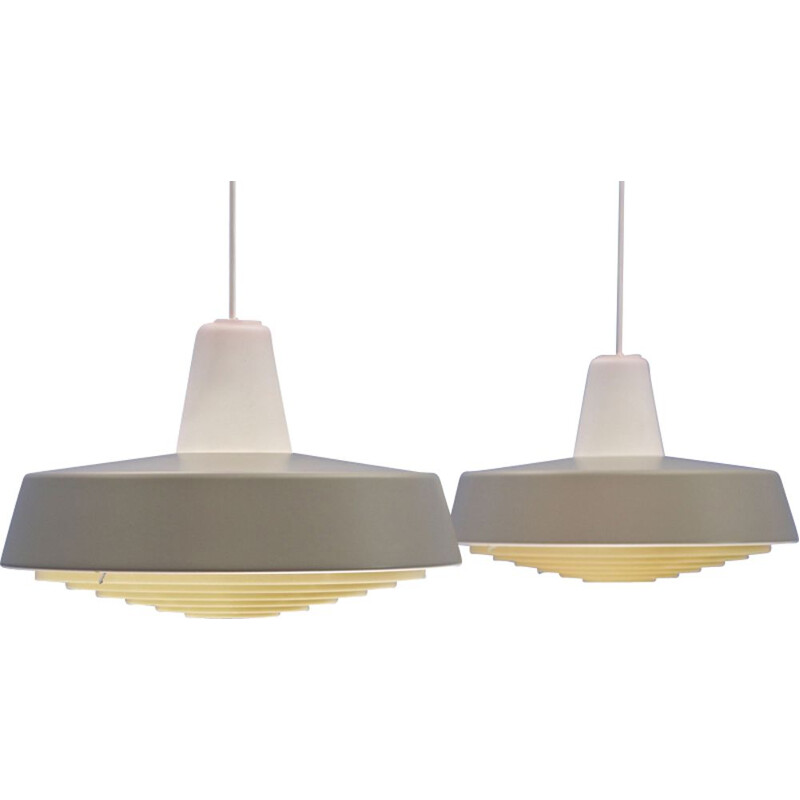 Pair of Danish pendant lamps in metal for Louis Poulsen