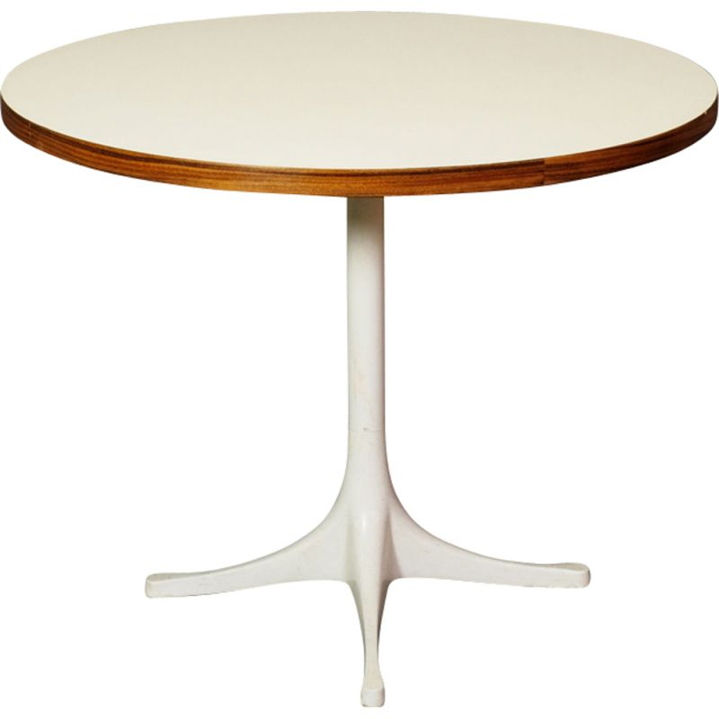Vintage white side table by Robert Propst for Herman Miller
