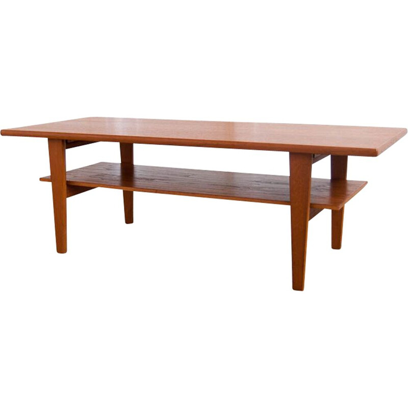 Vintage coffee table in teak Scandinavian 1960s