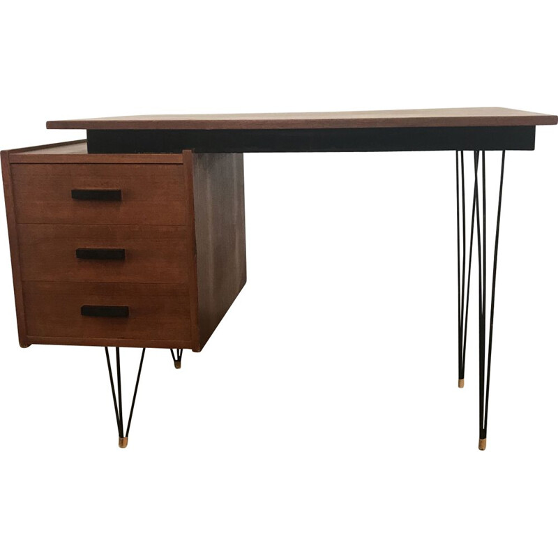 Vintage desk in teak by Cees Braakman for Pastoe,1960