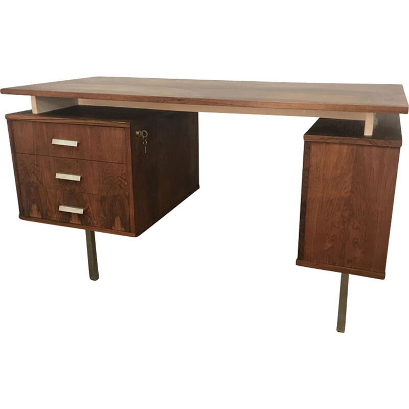 Vintage desk in rosewood by Cees Braakman for Pastoe,1960