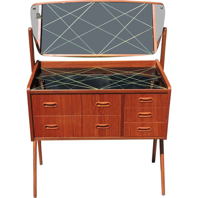 Vintage danish dressing table for AG Spejl Kobberbeskyttet 1960