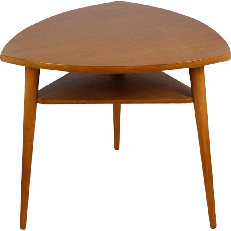 Vintage tripod coffee table for Cesky Nabytek in wood 1960