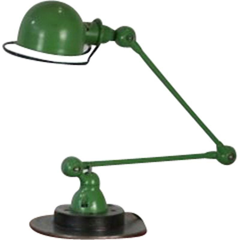 Vintage lamp for Jieldé in green steel 1950