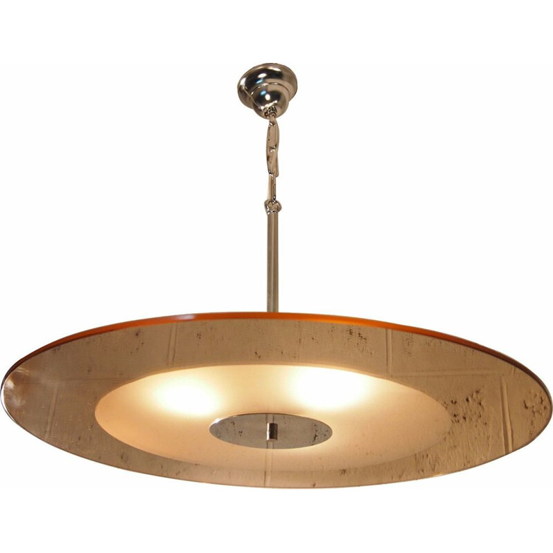 French vintage pendant light from the 40s