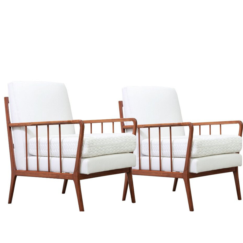 Pair of vintage armchairs by Rino Levi
