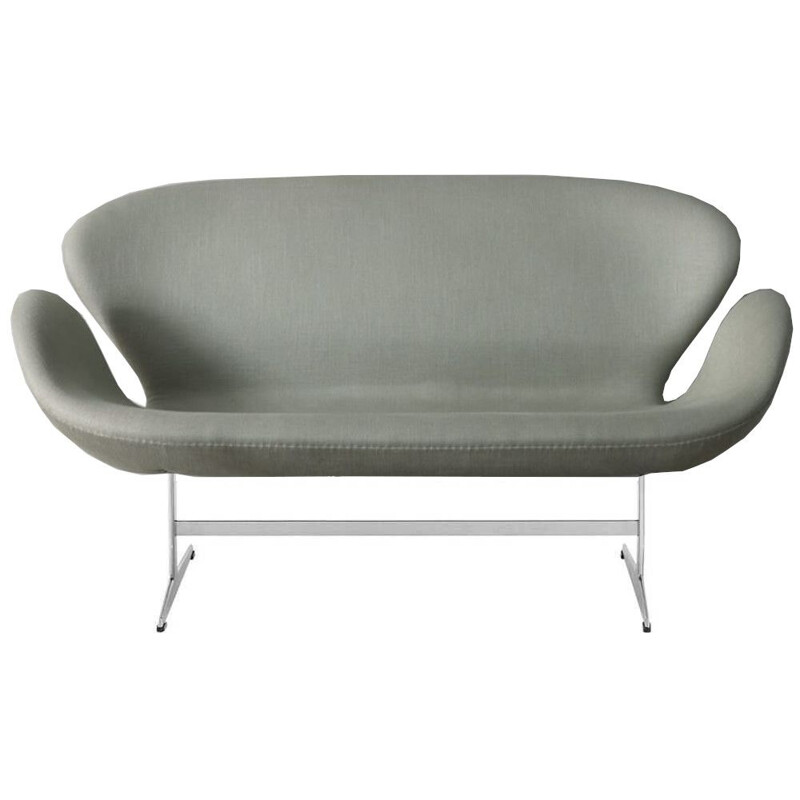 """Swan"" 2 seater sofa in fabric by Arne Jacobsen for FRITZ HANSEN"
