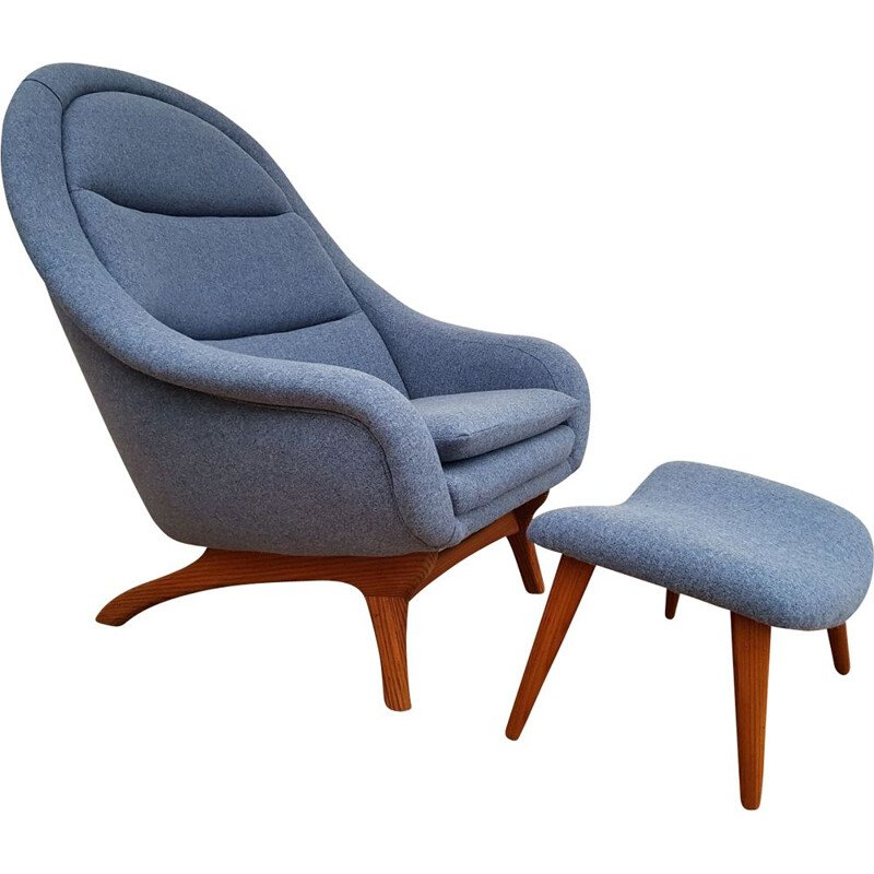 Vintage Danish teak lounge chair,1960