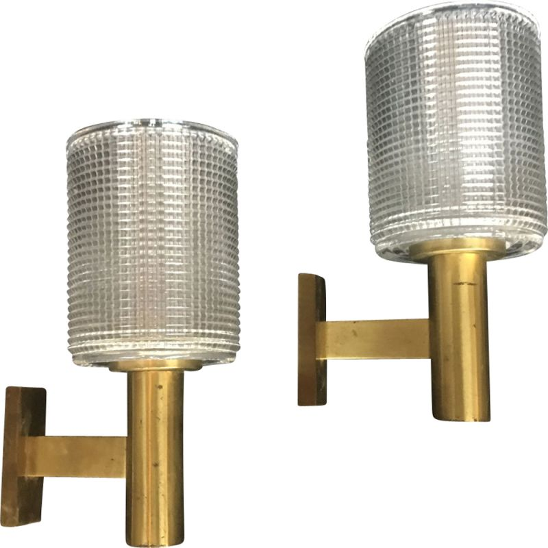 Vintage pair of wall lamps by Carl Fagerlund,1960