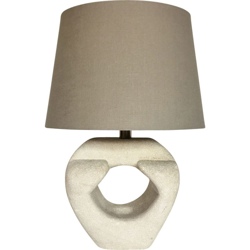 Vintage table lamp in stone by Albert Tormos, France, 1970