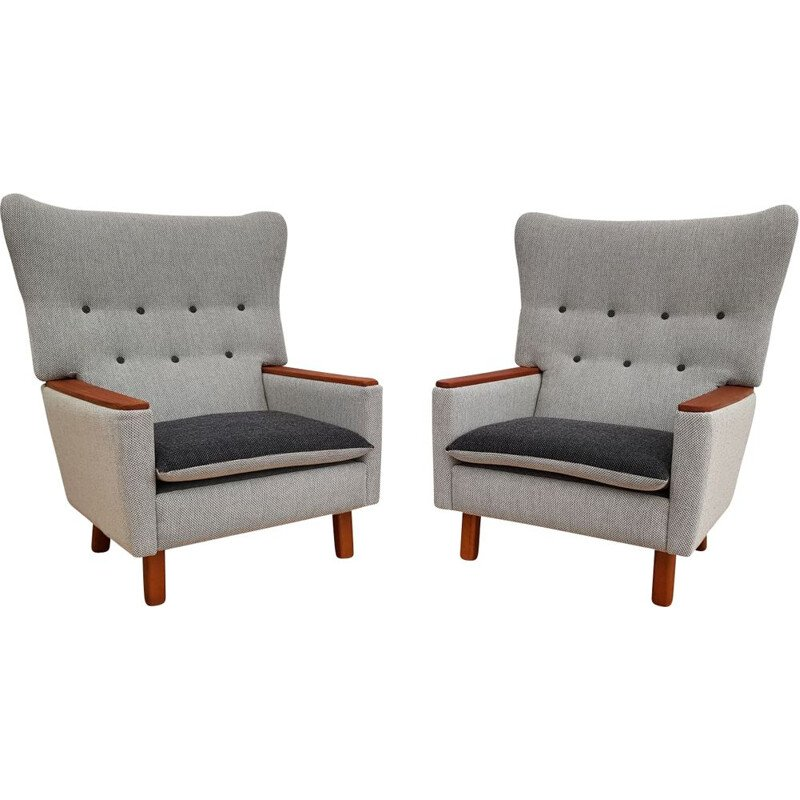Pair of vintage Danish lounge chairs from the 70s