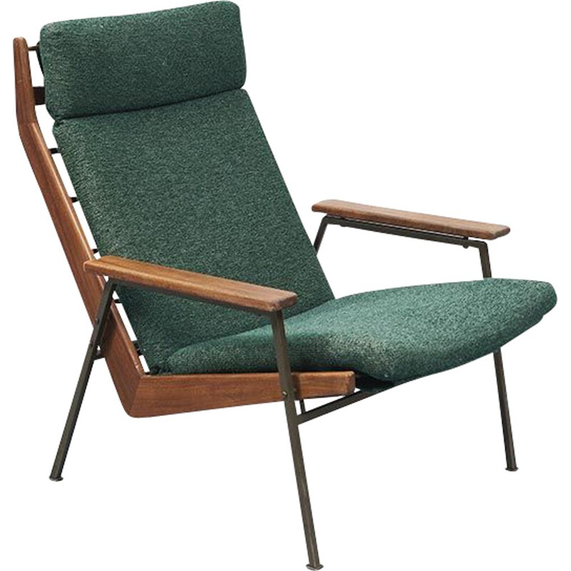 Lotus vintage Green armchair by Rob Parry 1960