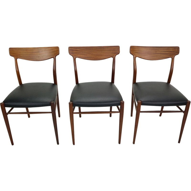 Set of 6 vintage teak Dining Chairs 1960