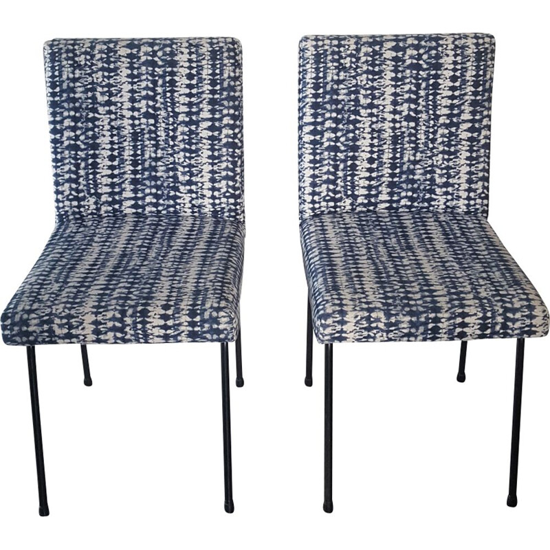 Pair of vintage chairs Indigo 1950