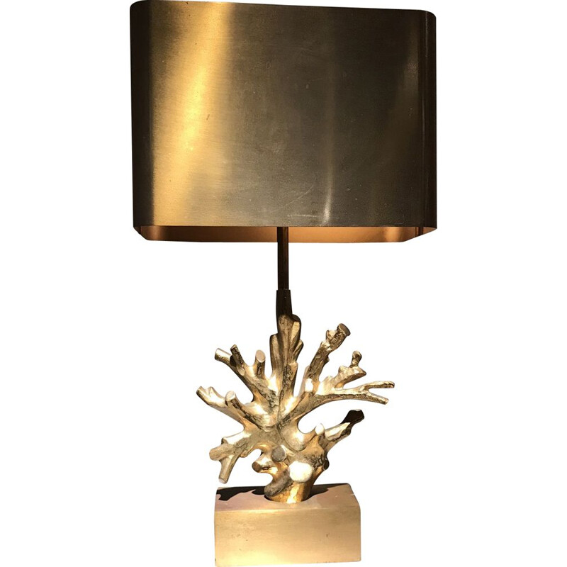 Vintage lamp Corail by Maison Charles bronze 1970
