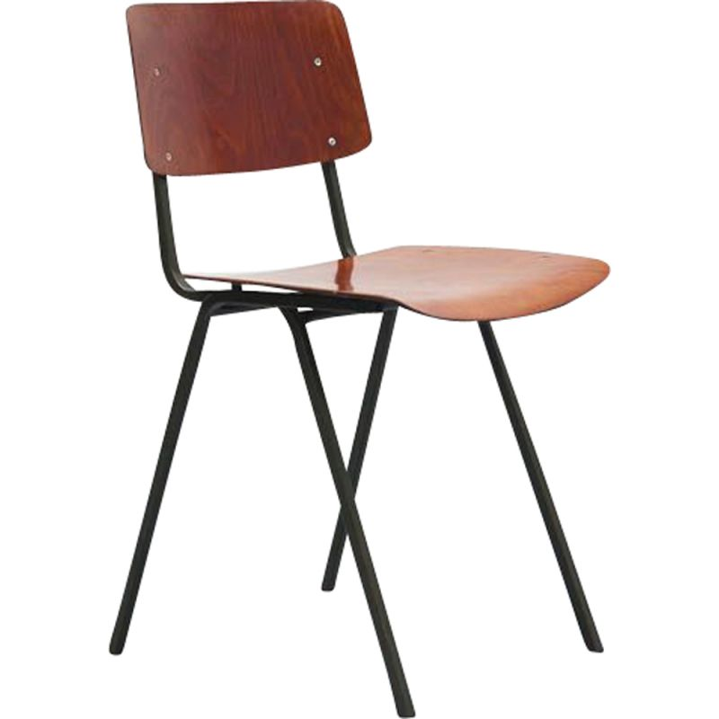 Vintage dining chair Eromes F6 1960s