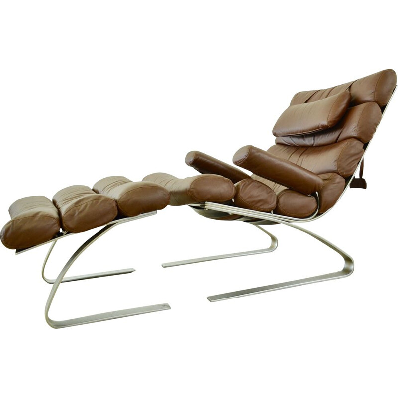 Vintage lounge chair & ottoman by COR sitzcomfort model Sinus by Adolf & Schröpfer