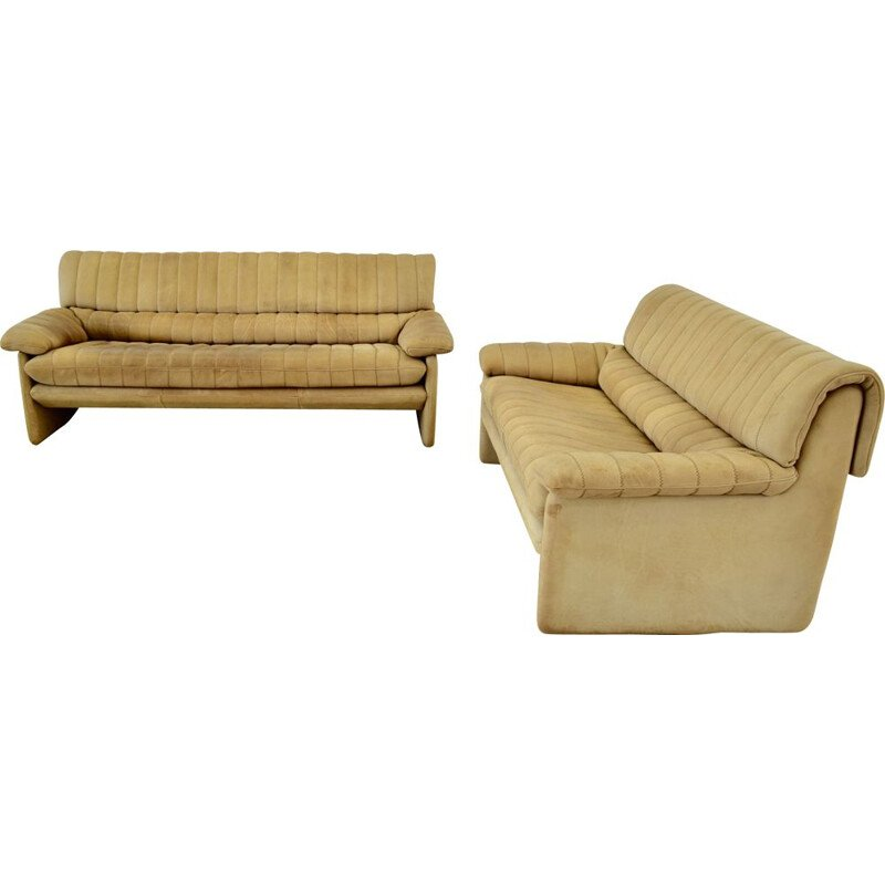 Set of 2 vintage sofas De Sede DS86 Switzerland 1970s