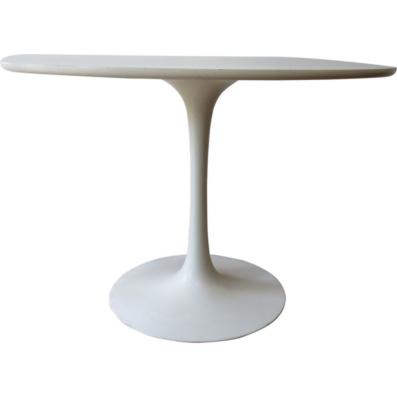 Vintage tulip table for Arkana UK in white formica and aluminium 1960